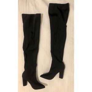 Missguided Neoprene Over the Knee Boots